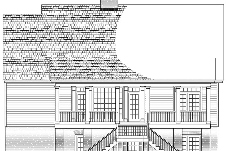 Colonial Exterior - Rear Elevation Plan #137-373 - Houseplans.com