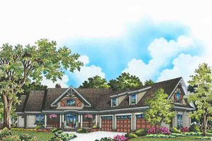 Architectural House Design - Craftsman Exterior - Front Elevation Plan #929-974