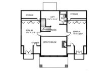 Craftsman Floor Plan - Upper Floor Plan Plan #117-841