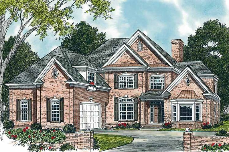 Traditional Exterior - Front Elevation Plan #453-292 - Houseplans.com