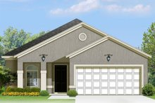 Home Plan - Adobe / Southwestern Exterior - Front Elevation Plan #1058-95
