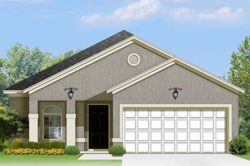 Adobe / Southwestern Exterior - Front Elevation Plan #1058-95 - Houseplans.com