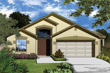 Country Exterior - Front Elevation Plan #1015-25