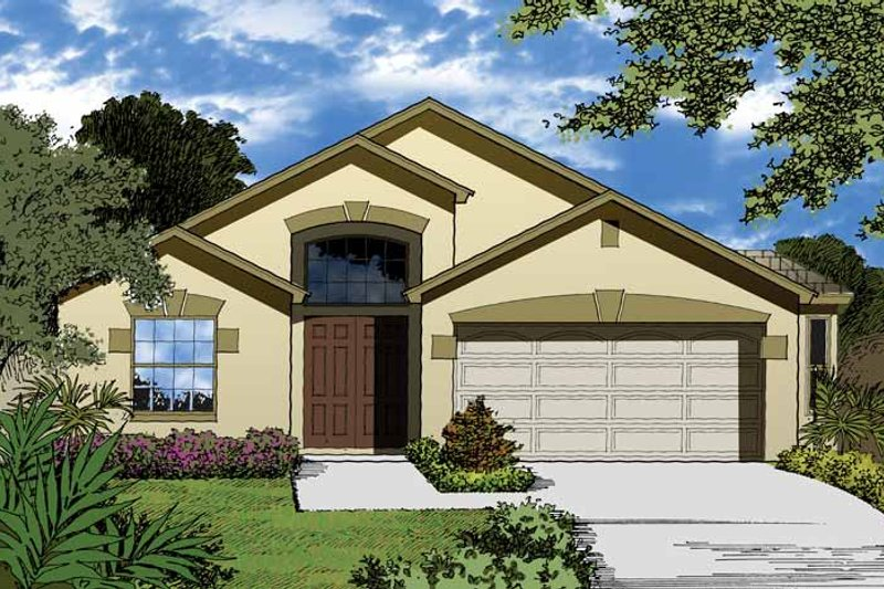Country Exterior - Front Elevation Plan #1015-25 - Houseplans.com