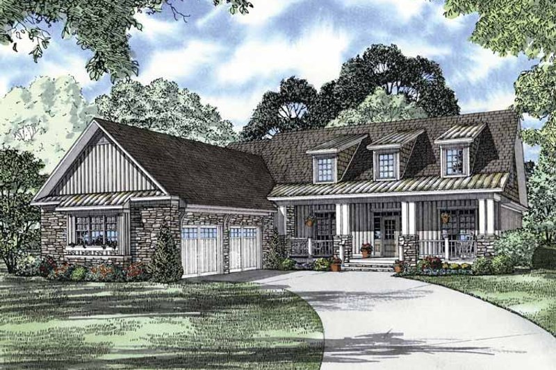 Country Style House Plan - 4 Beds 3.5 Baths 2445 Sq/Ft Plan #17-2993