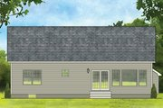 Ranch Style House Plan - 2 Beds 2 Baths 1408 Sq/Ft Plan #1010-178 Exterior - Rear Elevation