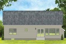 Dream House Plan - Ranch Exterior - Rear Elevation Plan #1010-178