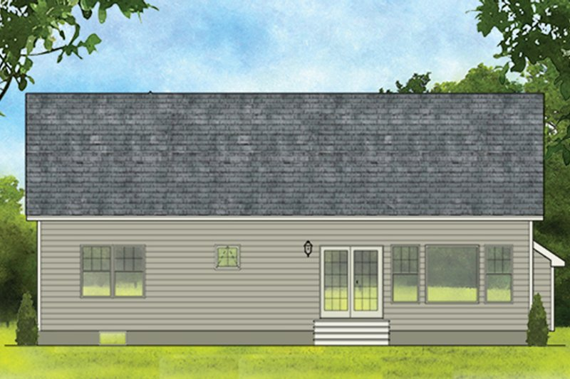 Ranch Exterior - Rear Elevation Plan #1010-178 - Houseplans.com