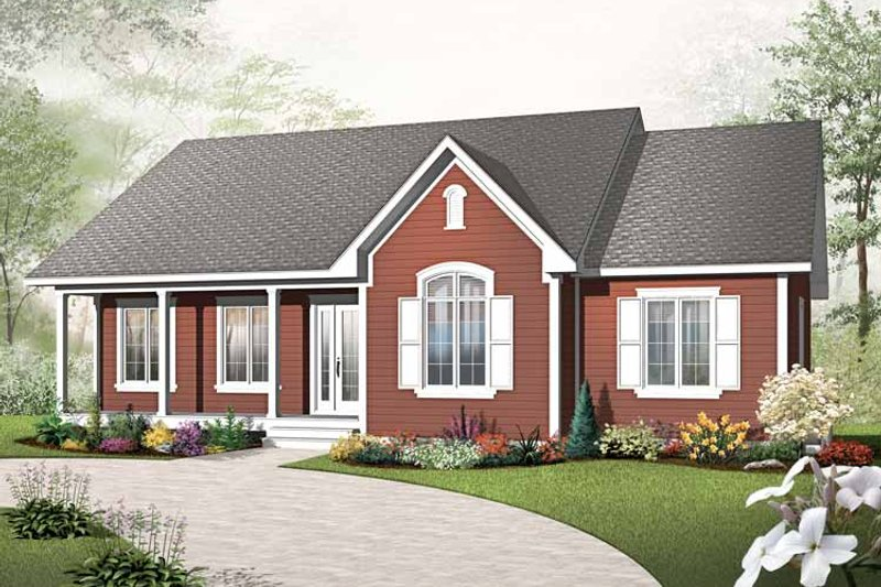 Country Exterior - Front Elevation Plan #23-2499 - Houseplans.com