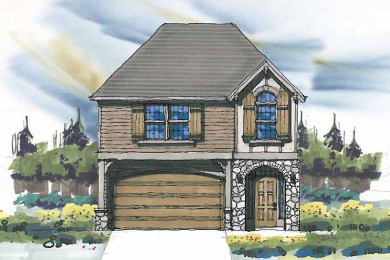 Prairie Exterior - Front Elevation Plan #509-219
