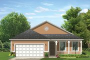 Ranch Style House Plan - 2 Beds 2 Baths 1503 Sq/Ft Plan #1058-107 Exterior - Front Elevation