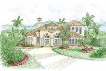 House Plan Design - Mediterranean Exterior - Front Elevation Plan #1017-99
