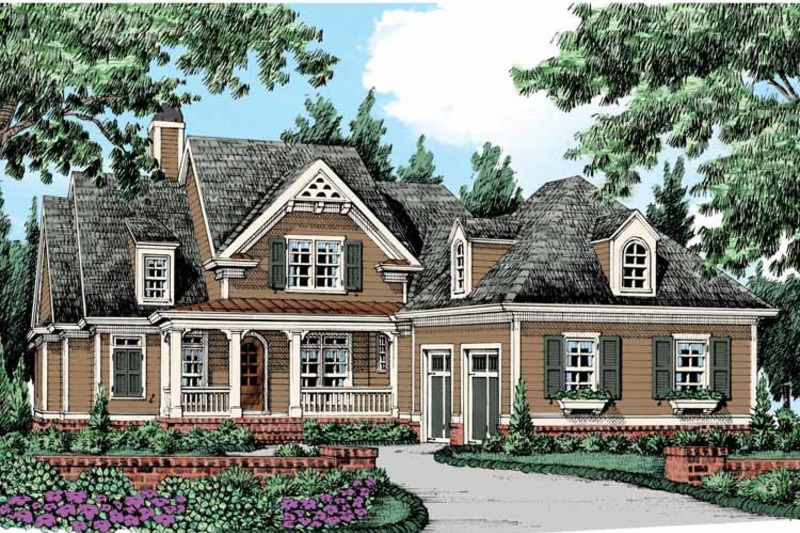 Country Exterior - Front Elevation Plan #927-435 - Houseplans.com