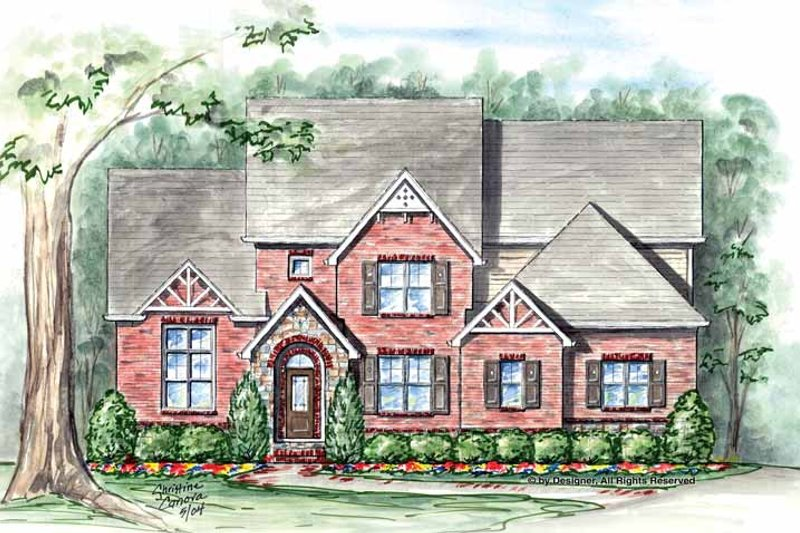 House Plan Design - Traditional Exterior - Front Elevation Plan #54-346
