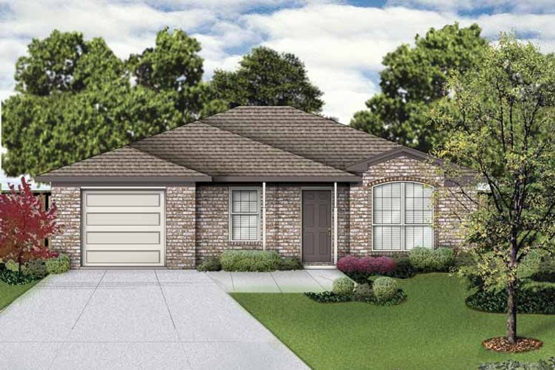 Traditional Exterior - Front Elevation Plan #84-746 - Houseplans.com