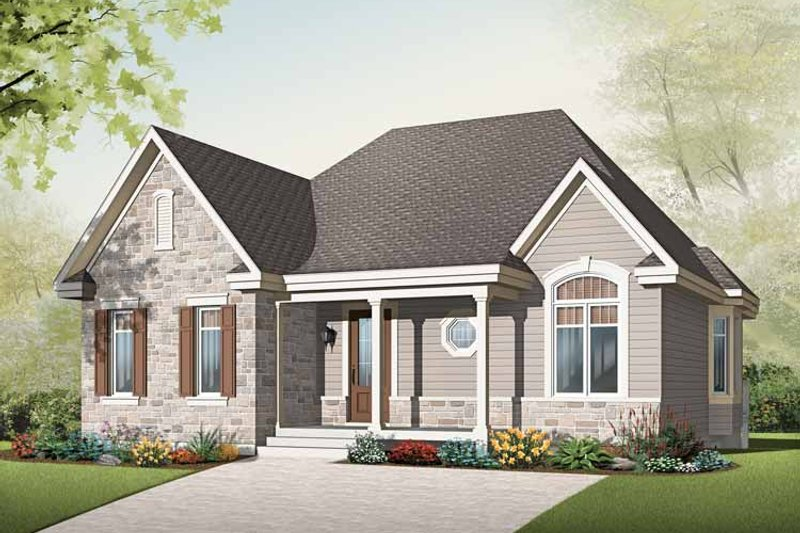 Home Plan - Country Exterior - Front Elevation Plan #23-2497