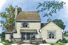 Colonial Exterior - Rear Elevation Plan #1016-102