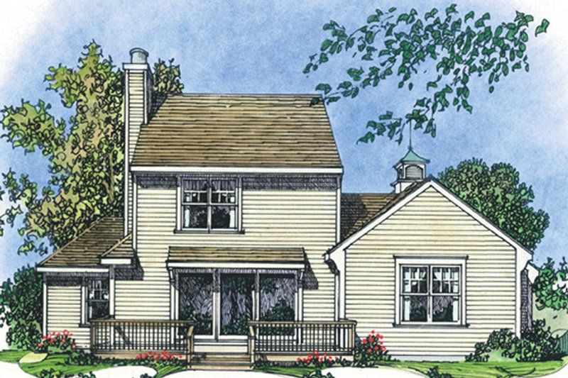 Colonial Exterior - Rear Elevation Plan #1016-102 - Houseplans.com