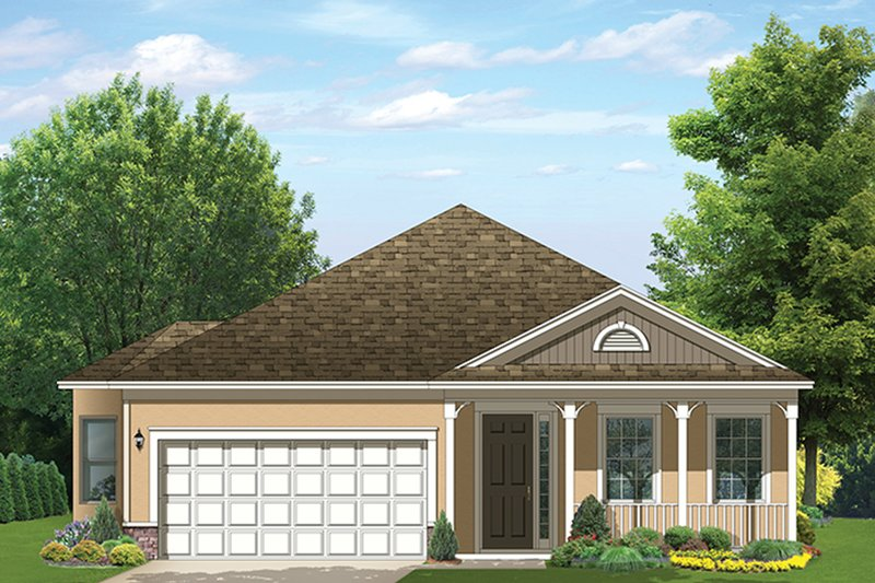 Ranch Exterior - Front Elevation Plan #1058-111