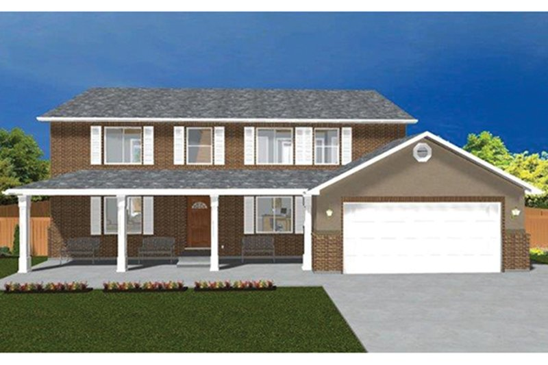 Architectural House Design - Traditional Exterior - Front Elevation Plan #1060-17