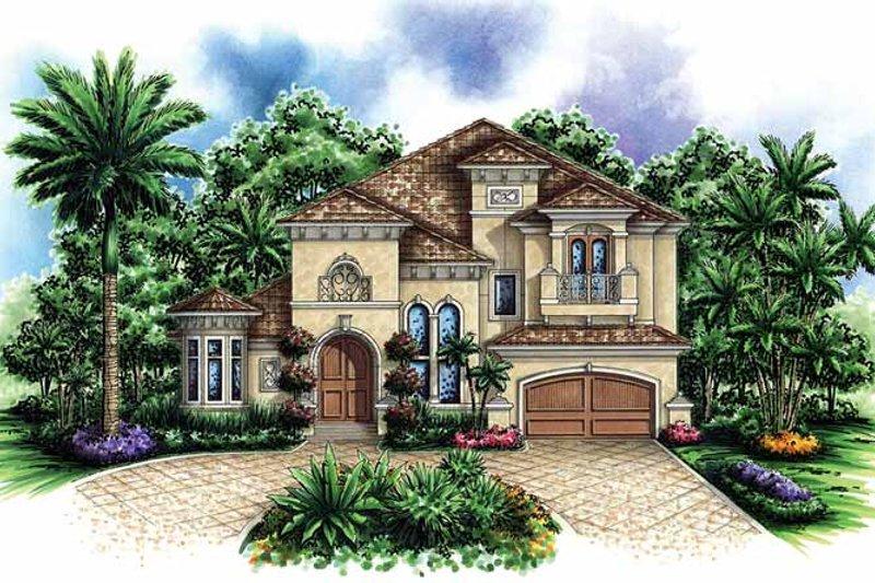 Dream House Plan - Mediterranean Exterior - Front Elevation Plan #1017-32