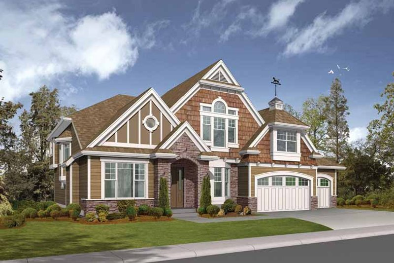 Dream House Plan - Craftsman Exterior - Front Elevation Plan #132-454