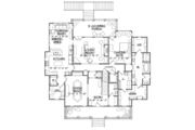Southern Style House Plan - 4 Beds 3.5 Baths 3435 Sq/Ft Plan #1054-19 Floor Plan - Main Floor