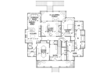 Southern Floor Plan - Main Floor Plan Plan #1054-19