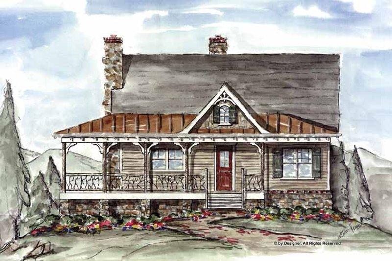 Craftsman Exterior - Front Elevation Plan #54-310 - Houseplans.com