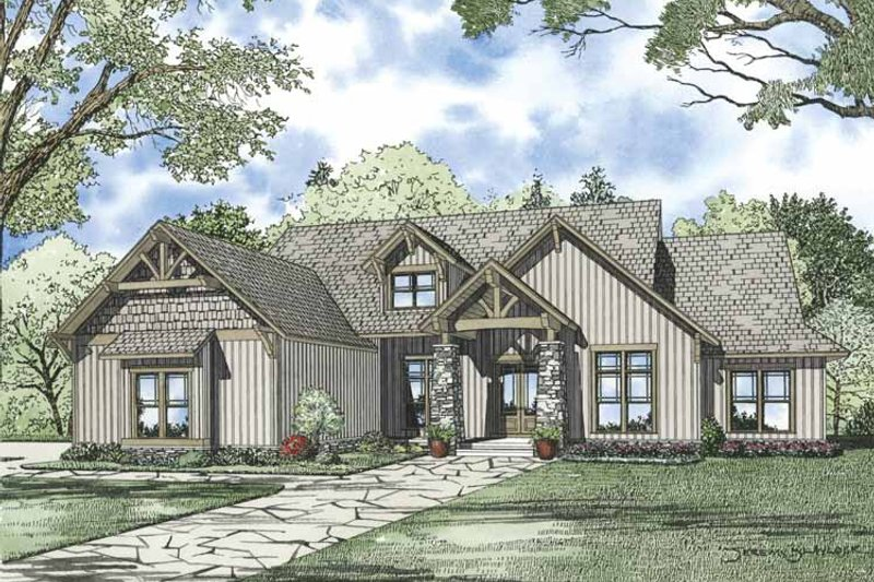 Dream House Plan - Traditional Exterior - Front Elevation Plan #17-3316