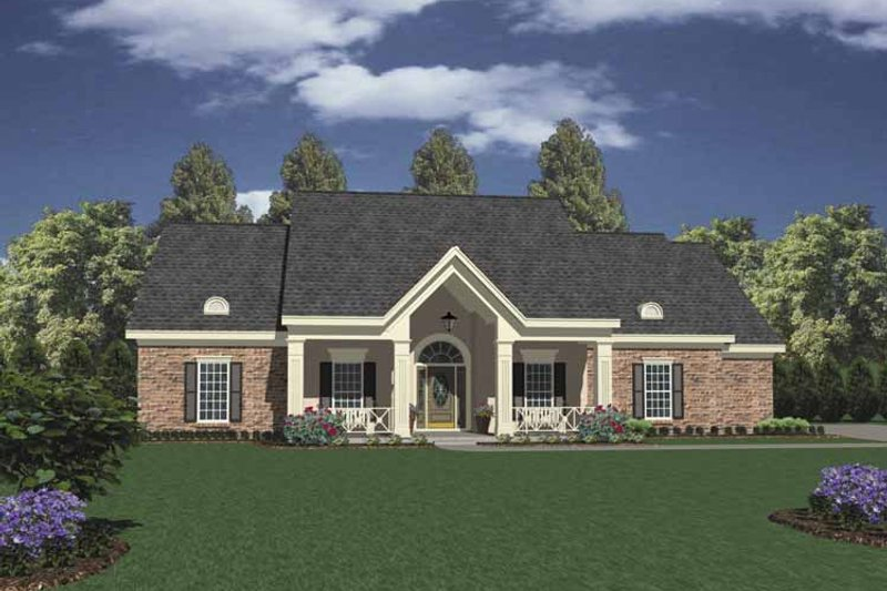 Dream House Plan - Classical Exterior - Front Elevation Plan #36-538