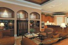 Mediterranean Interior - Family Room Plan #930-175