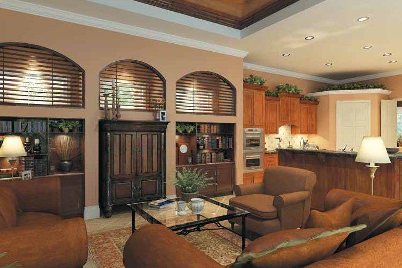 Mediterranean Interior - Family Room Plan #930-175 - Houseplans.com