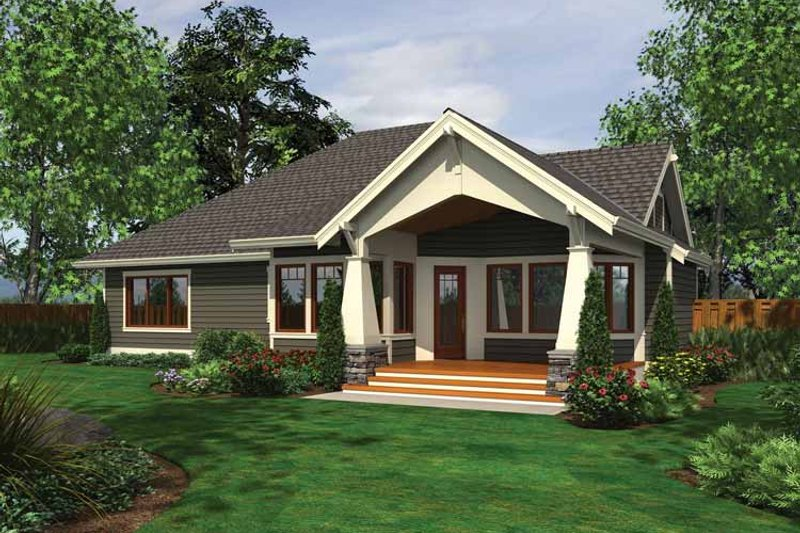 Ranch Exterior - Rear Elevation Plan #132-534 - Houseplans.com