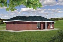 Dream House Plan - Ranch Exterior - Rear Elevation Plan #1061-31