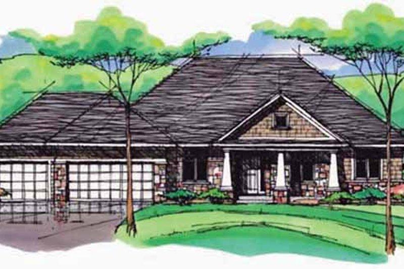 Dream House Plan - European Exterior - Front Elevation Plan #51-992