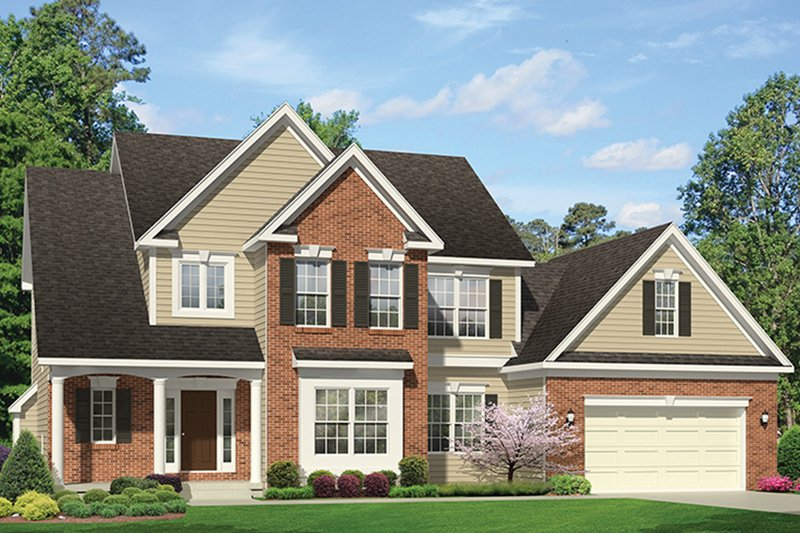 Colonial Exterior - Front Elevation Plan #1010-157