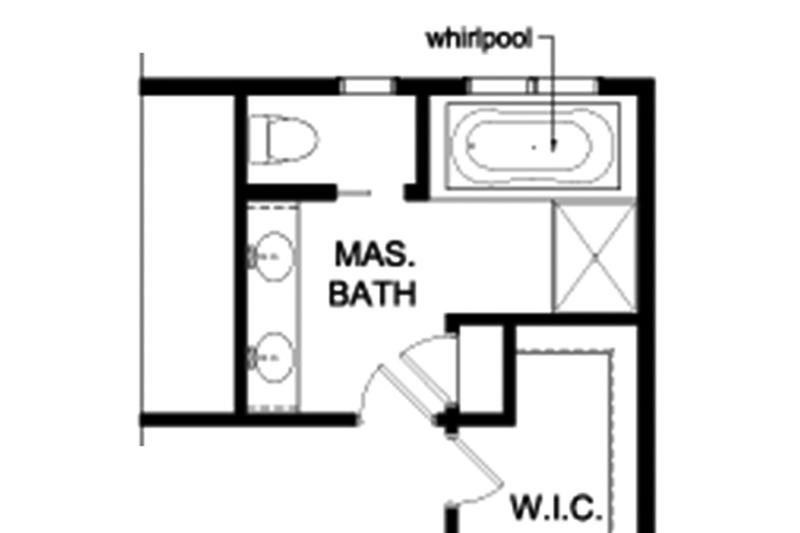 Colonial Interior - Master Bathroom Plan #1010-164 - Houseplans.com