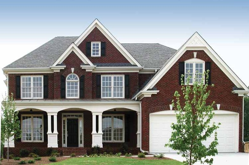 Dream House Plan - Traditional Exterior - Front Elevation Plan #54-229