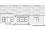 Ranch Style House Plan - 2 Beds 2 Baths 1808 Sq/Ft Plan #1010-102 Exterior - Rear Elevation
