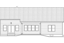 Ranch Exterior - Rear Elevation Plan #1010-102
