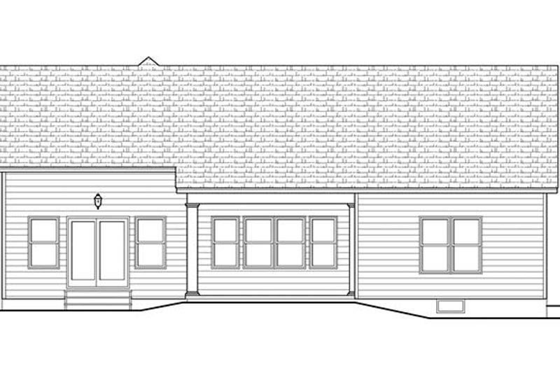 Ranch Exterior - Rear Elevation Plan #1010-102 - Houseplans.com