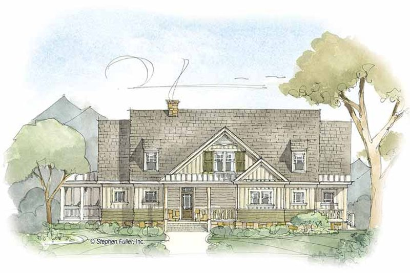 Country Exterior - Front Elevation Plan #429-379