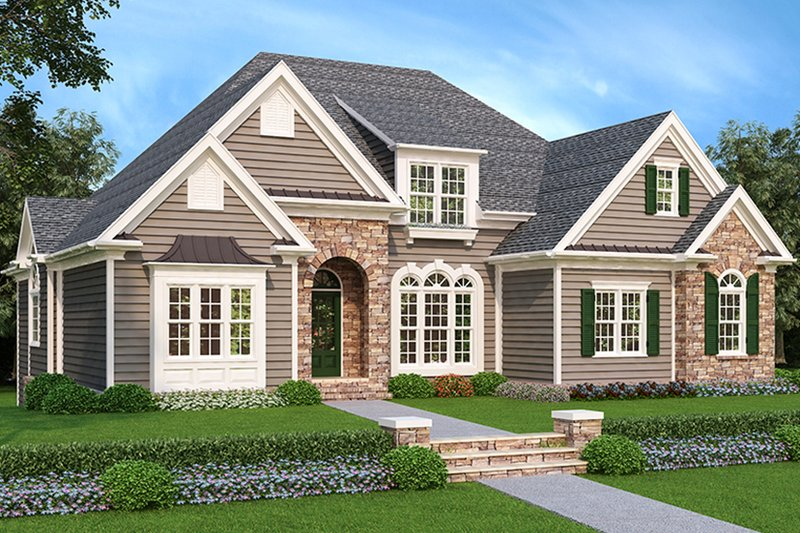 Home Plan - Country Exterior - Front Elevation Plan #927-547