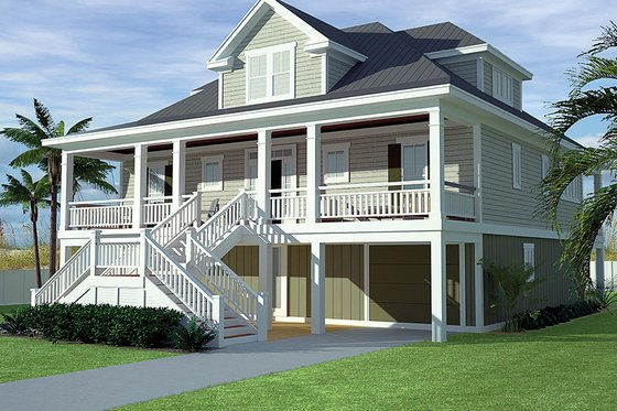 Dream House Plan - Country Exterior - Front Elevation Plan #991-31