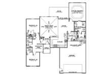 Ranch Floor Plan - Main Floor Plan Plan #1064-6