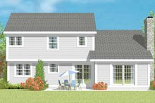 House Plan Design - Traditional Exterior - Rear Elevation Plan #72-1076