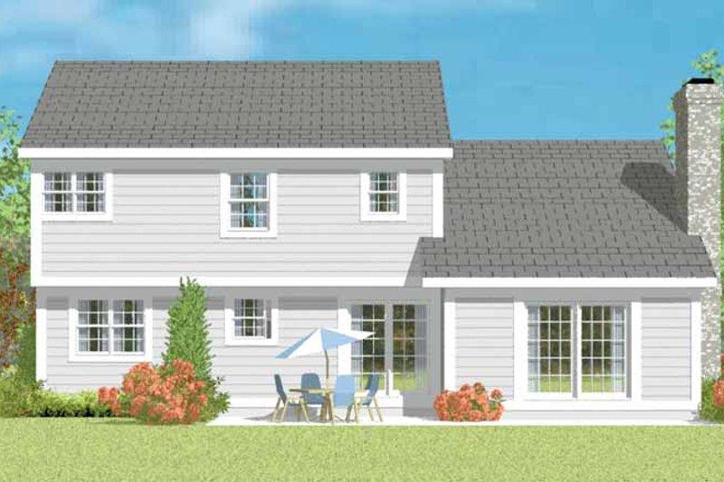 Traditional Exterior - Rear Elevation Plan #72-1076 - Houseplans.com