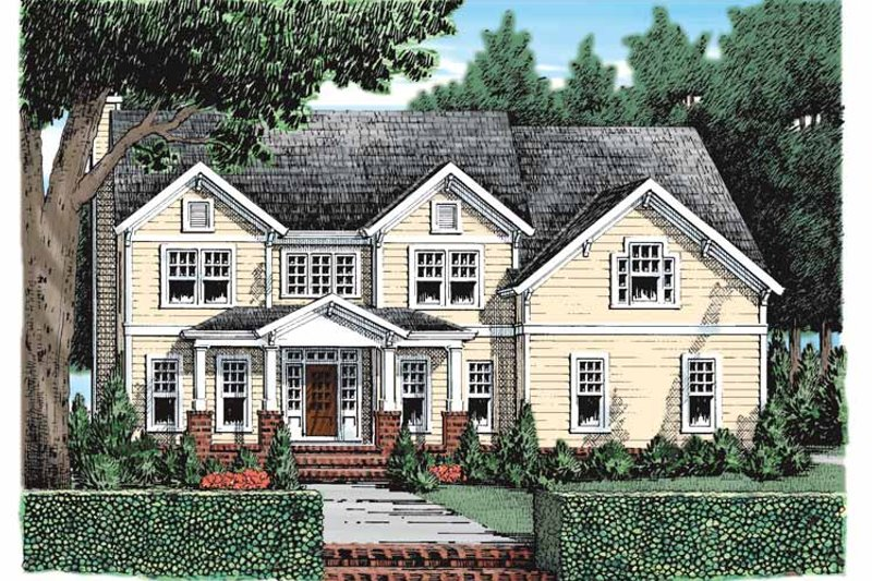 Craftsman Exterior - Front Elevation Plan #927-932
