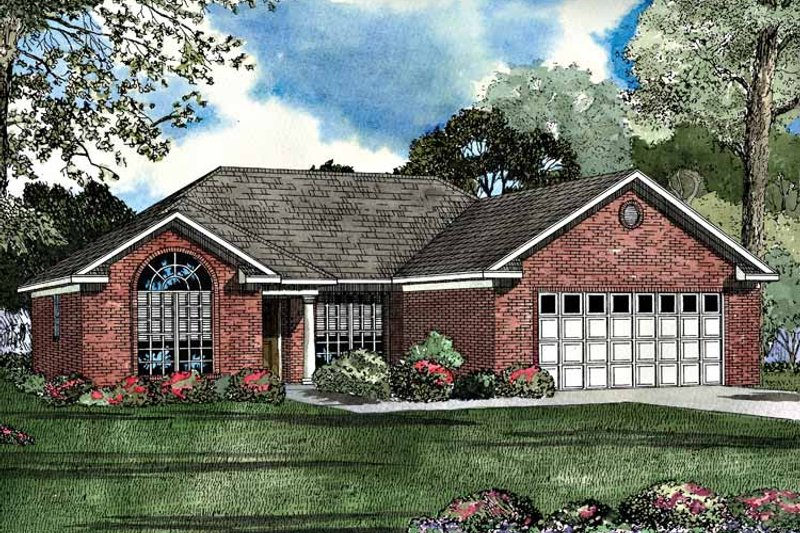 Dream House Plan - Ranch Exterior - Front Elevation Plan #17-3069